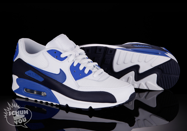 air max 90 blue and white