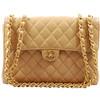 Chanel - Chanel Beige Caviar Jumbo Flap Bag GHW