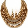 Kathrina's Layered Brown Synthetic Pearl Choker Style Necklace & Earring Set - Only $43.95 — Fantasy Jewelry Box