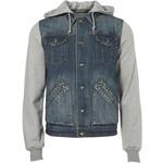 Mid Wash Denim Jersey Jacket - Mens Jackets & Coats - Clothing - TOPMAN