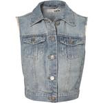 Moto Bleach Sleevless Jacket