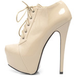 AX Paris AX Paris Nude Front Platform Lace Up Shoe