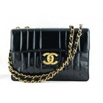 Chanel Black Quilted Lambskin Shoulder Bag