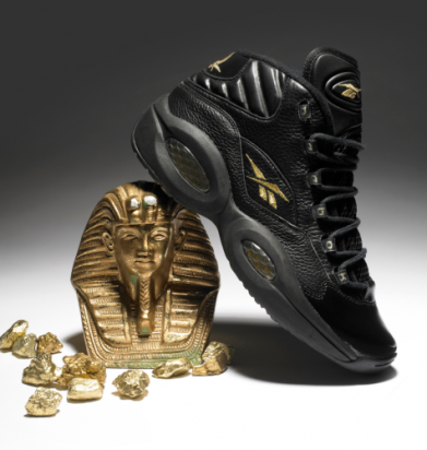 """separation shoes 8f71d 4c0b6 Peep Allen Iverson s December 29th launch of the Reebok """"Question"""" in black  gold, just in time for NYE!"""