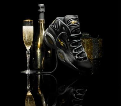 "best service 89f83 886fd We Like  Allen Iverson s Reebok ""Question"" black gold for Dec 29th ..."