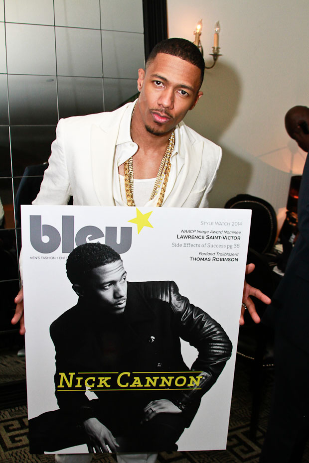 Last Night In NYC: Nick Cannon Celebrates Bleu Magazine Cover with Hennessy, Nivea Men & Flat Fitty…
