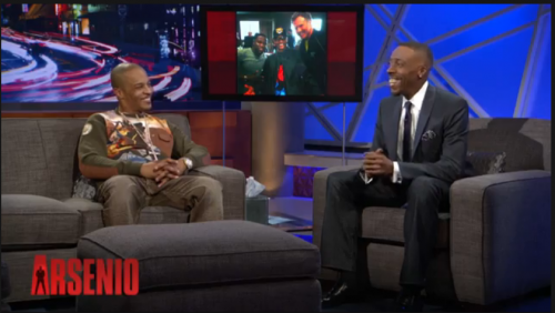 TI in AKOO Epic Sweater on Arsenio