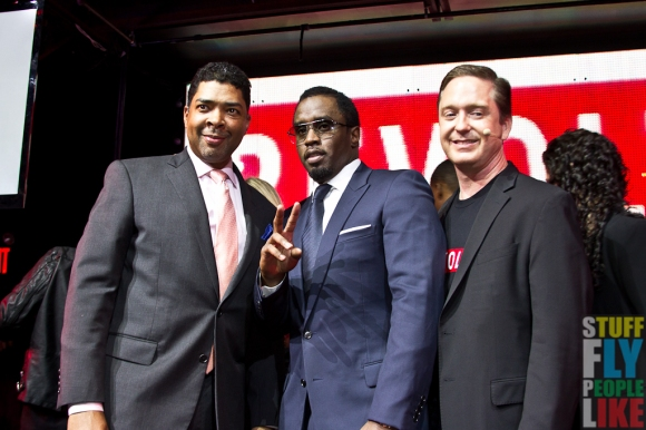 Keith Clinkscales, Sean Diddy Combs and Bob Gruters