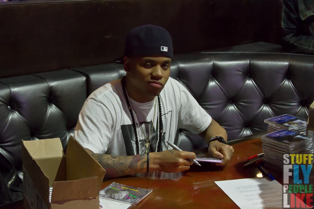 Mack signing copies of his album New York A Love Story.