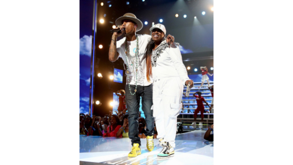 062914-Shows-BET-Awards-Show-Highlights-Pharrell-Williams-MIssy-Elliott