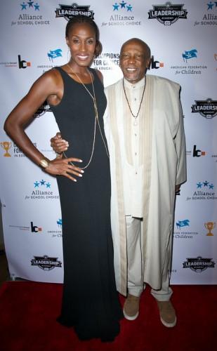 WNBA Lisa Leslie and Ocsar Award Winner Louis Gossett Jr.