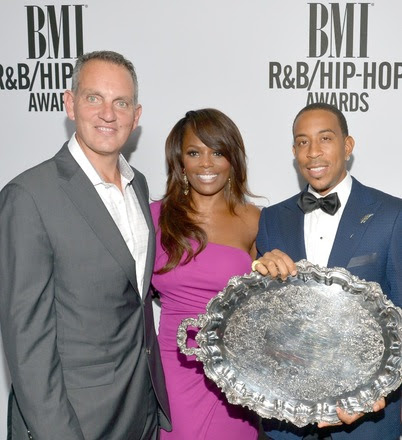 Pictured above (L-R): BMI President & CEO Mike O' Neill; BMI Vice President, Writer-Publisher Relations Catherine Brewton; and BMI President's Award recipient Christopher 'Ludacris' Bridges