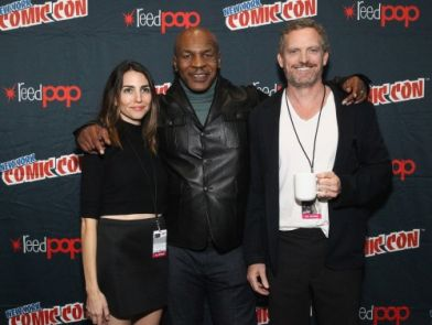 FLY LIGHTS: Mike Tyson, Michael Jai White and Estelle Attend New