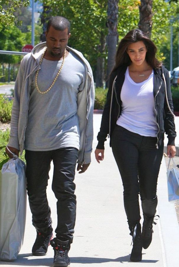 Kim Kardashian and Kanye West out and about, Los Angeles, America - 09 Jul 2012