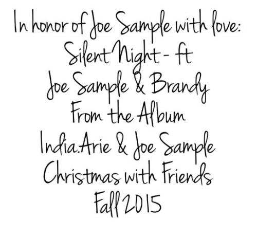 """India.Arie & Brandy Sings """"Silent Night"""" In Honor of Joe Sample ..."""