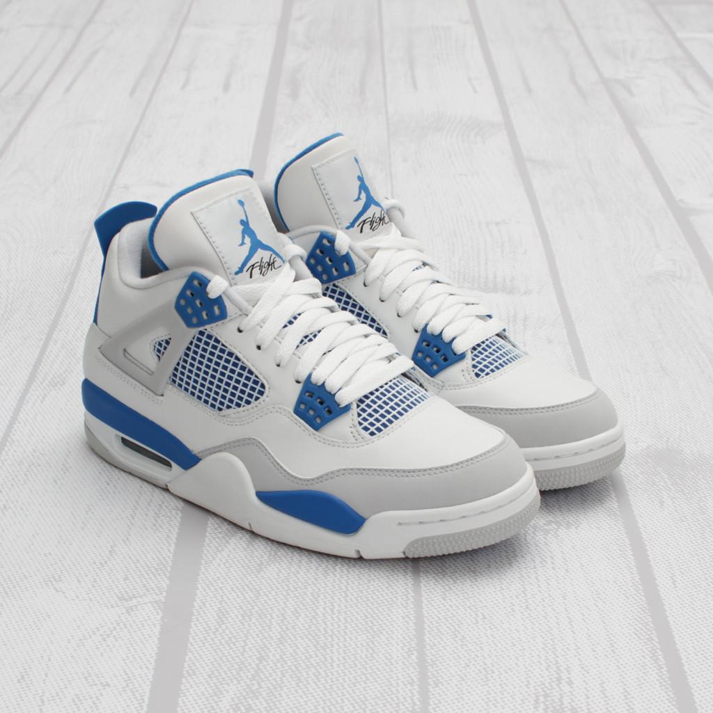3a3b383be08 air-jordan-4-retro-white-military-blue-1 | Stuff Fly People Like | SFPL