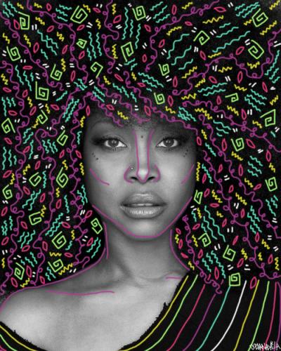 Erykah Badu | Art by @LlanaKila