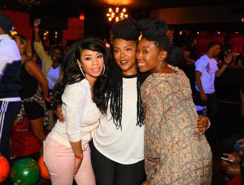 (Left: Keyshia Cole, Keisha Epps and Brandy Norwood) Photo by HENNESSY V.S