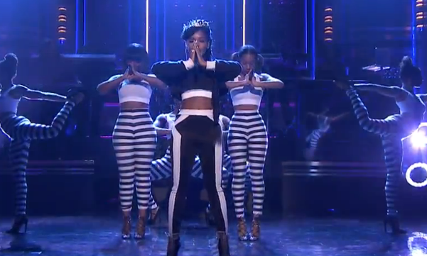 Janelle Monàe Yoga Tonights Show With Jimmy Fallon
