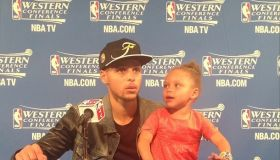 Steph and Riley Curry