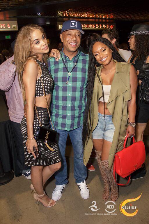 Jasmine Sanders, Russell Simmons & Tahiry