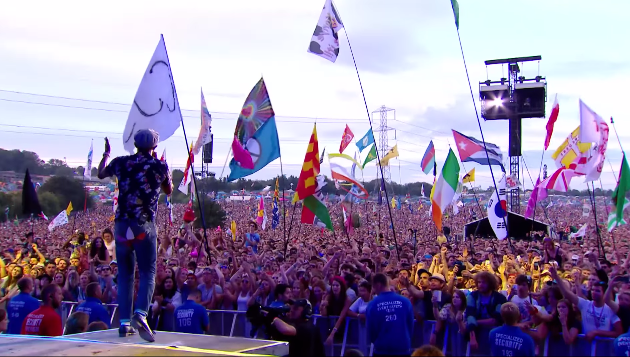 pharrell performs at glastonbury