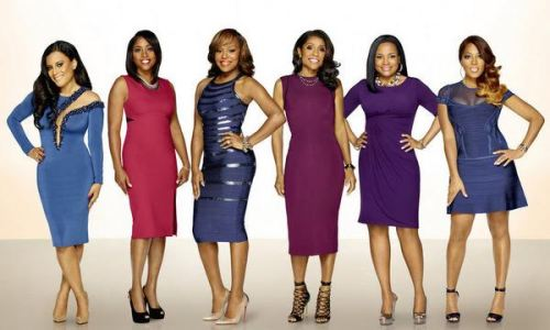 MARRIED TO MEDICINE -- Season:3 -- Pictured: (l-r) Lisa Nicole Cloud, Simone Whitmore, Quad Webb Lunceford, Jacqueline Walters, Heavenly Kimes, Toya Bush-Harris -- (Photo by: Michael Larsen/Bravo)