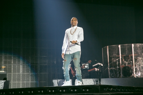 trey songz performs at essence