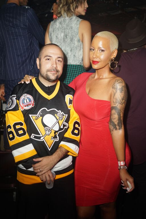 peter and amber rose backstage