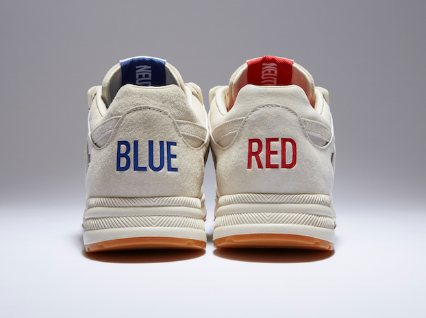 kendrick lamar red and blue sneakers