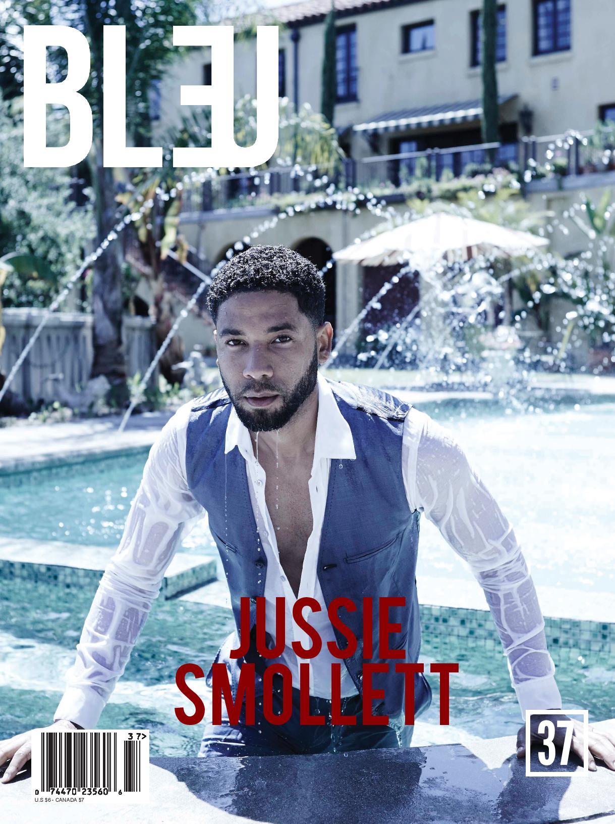 jussie smollett in bleu magazine