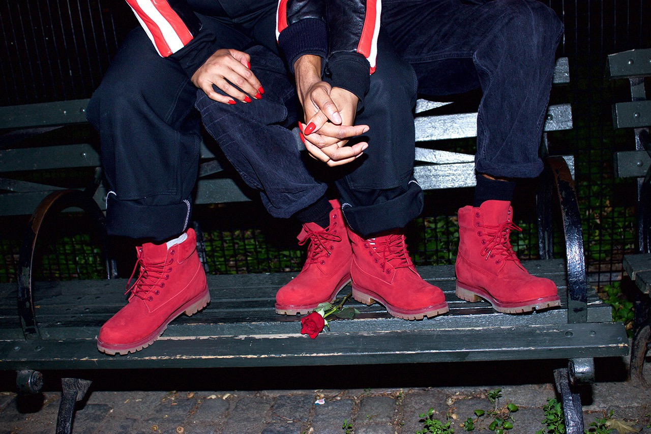 FLY Kicks Of The Day  Timberland Red Release Collection starring Paloma  Elsesser   Perry Goodman 6a1fe0923