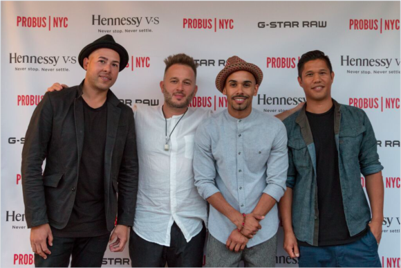 G-Star team, Ivo (Probus NYC owner), Eugene Abreu (Hennessy), G-Star team