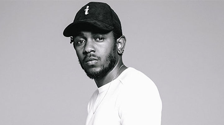 Kendrick Lamar performing at 58th Grammy Awards