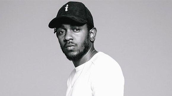 Kendrick Lamar performing at 58th Grammy Awards