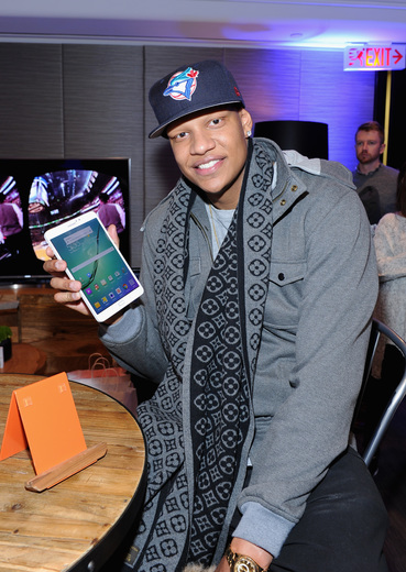 Charlie Villanueva at the Samsung Galaxy Lounge during NBA All-Star 2016
