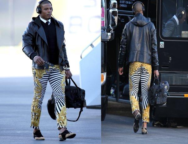 Cam Newtons Versace Zebra Pants