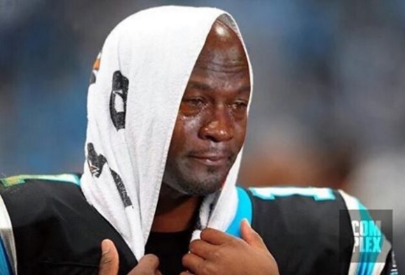Cam Newton Michael Jordan Crying Face