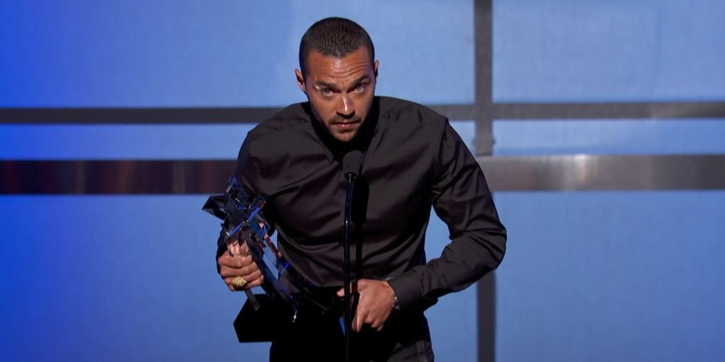 Jesse Williams at the 2016 BET Awards during his acceptance of the Humanitarian Award