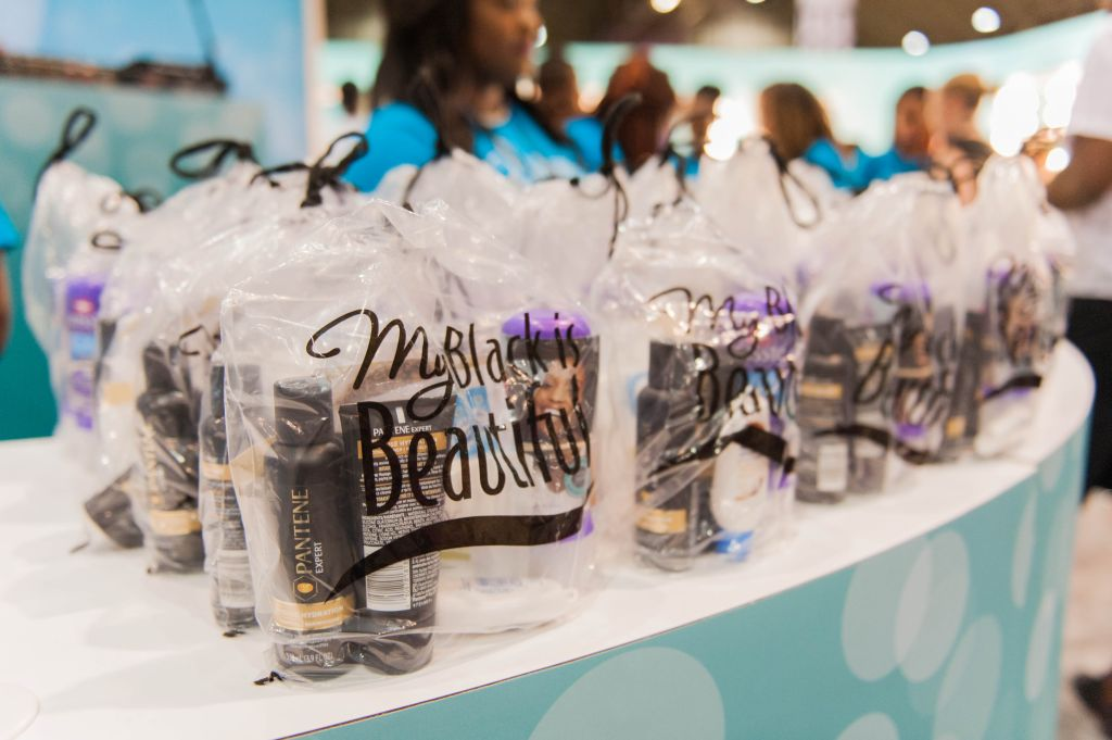 My Black is Beautiful Giveaway Samples at the Booth in Essence Festival