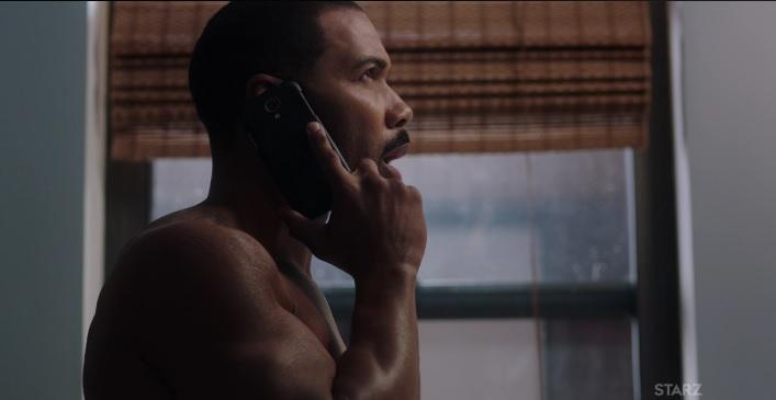 Ghost  on the phone with Tasha Power Season 3 episode 304