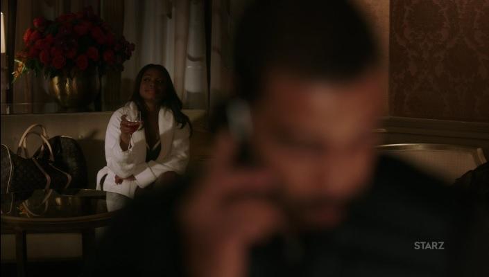 Tasha listening in on the conversation Power Season 3, Episode 306