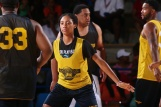 Chicago Sky Forward Tamera Young participates in The 14th annual Duffy's Hope Celebrity Basketball Game Saturday, August 06, 2016, at The Bob Carpenter Sports Convocation Center, in Newark, DEL. Proceeds will benefit The Non-Profit Organization Duffy's Hope Youth Programming.