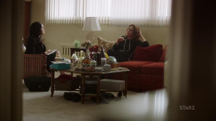 Angela talking to Kate about Tommy's Alibi Power Season 3, Episode 308