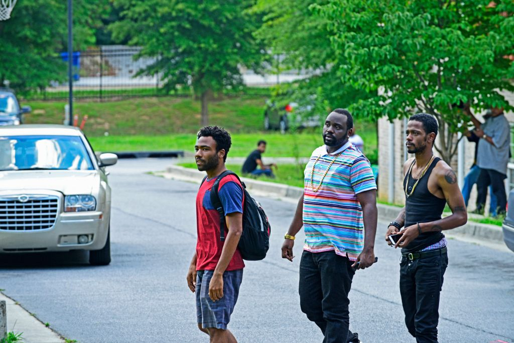 ATLANTA -- ÒThe Big BangÓ --  Episode 101 (Airs Tuesday, September 6, 10:00 pm e/p) Pictured: (l-r) Donald Glover as Earnest Marks, Brian Tyree Henry as Alfred Miles, Keith Standfield as Darius. CR: Guy D'Alema/FX