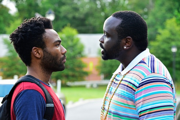 ATLANTA -- ÒThe Big BangÓ --  Episode 101 (Airs Tuesday, September 6, 10:00 pm e/p) Pictured: (l-r) Donald Glover as Earnest Marks, Brian Tyree Henry as Alfred Miles. CR: Guy D'Alema/FX