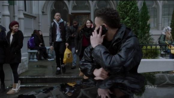 Dre picks up Riq from school Power Season 3, Episode 308