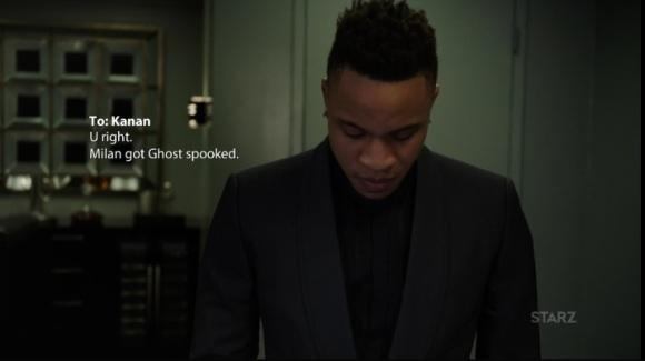 Dre reporting to Kanan Power Season 3, Episode 308