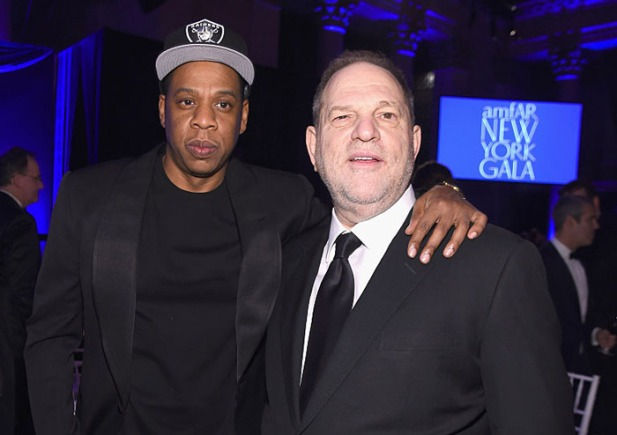 Jay Z and Harvey Weinstein at the amFAR Gala in New York City.