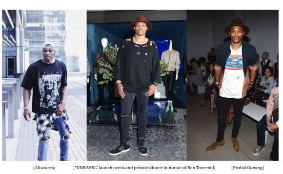 Russell Westbrook Attends Altuzarra, Prabal Gurung shows and honors Ben Taverniti with Barneys team at Barney's 'UNRAVEL' Dinner S/S 2017 NYFW